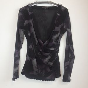 Picadilly fashion mock wrap top size small